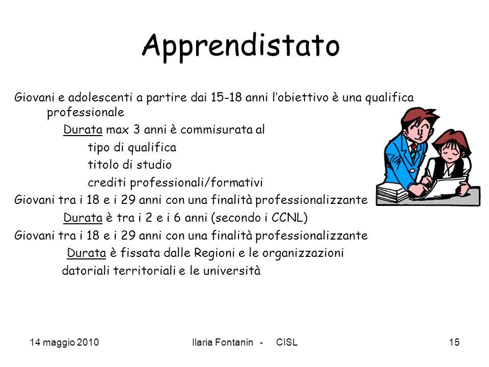 Apprendistato Giovani e adolescenti a partire dai 15-18 anni l'obiettivo è una qualifica professionale.