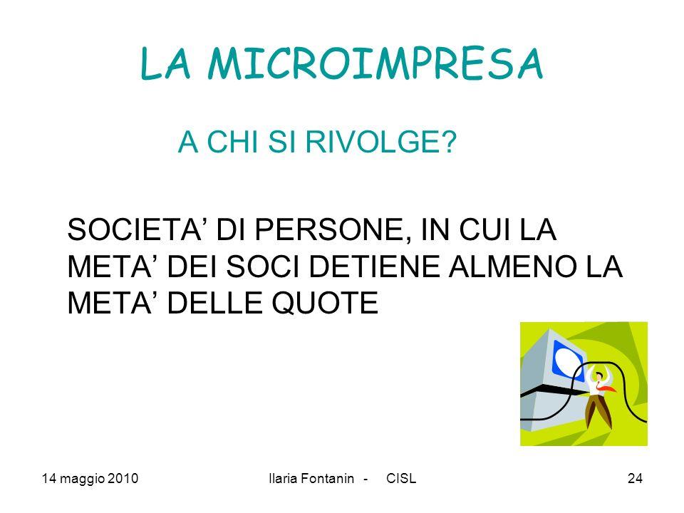 LA MICROIMPRESA A CHI SI RIVOLGE