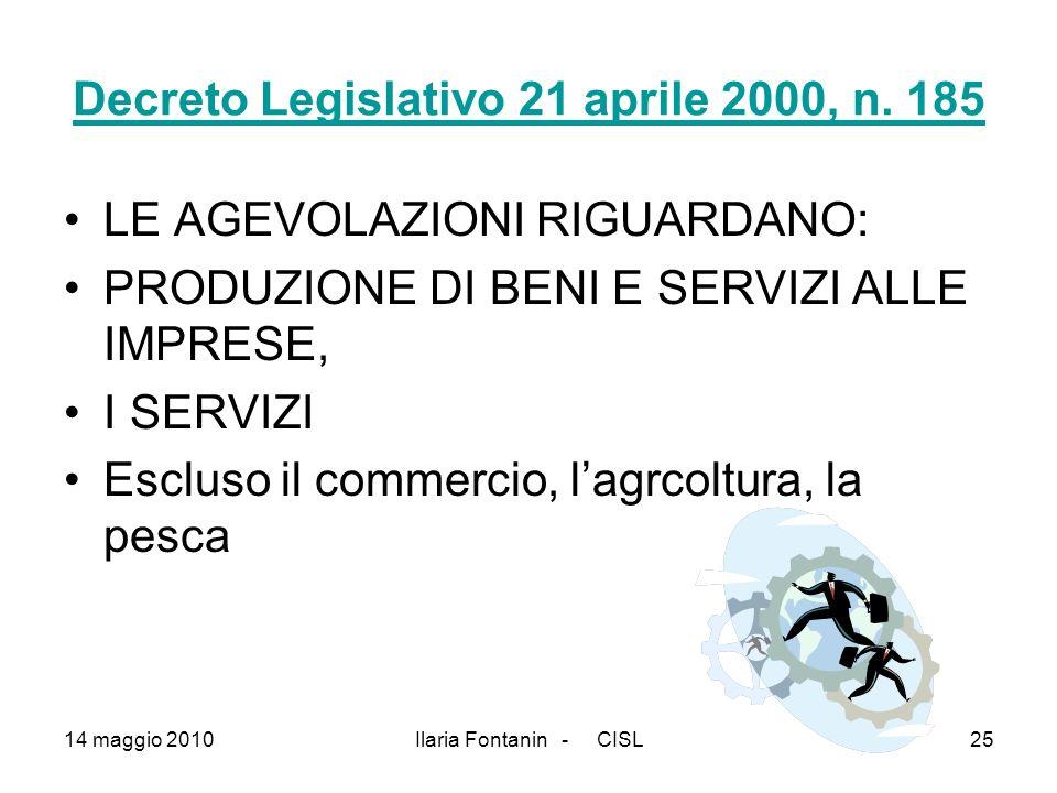 Decreto Legislativo 21 aprile 2000, n. 185