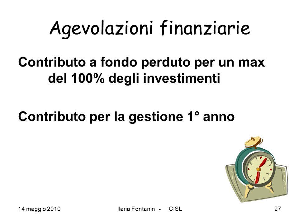 Agevolazioni finanziarie