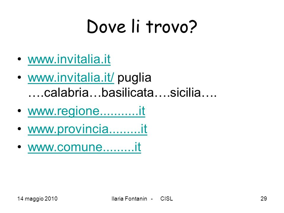 Dove li trovo www.invitalia.it