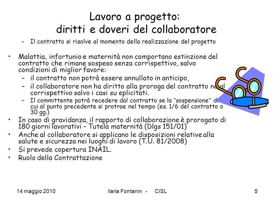 Lavoro a progetto: diritti e doveri del collaboratore