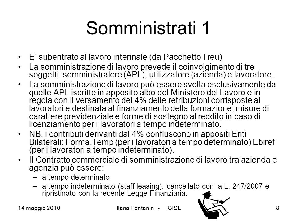 Somministrati 1 E' subentrato al lavoro interinale (da Pacchetto Treu)