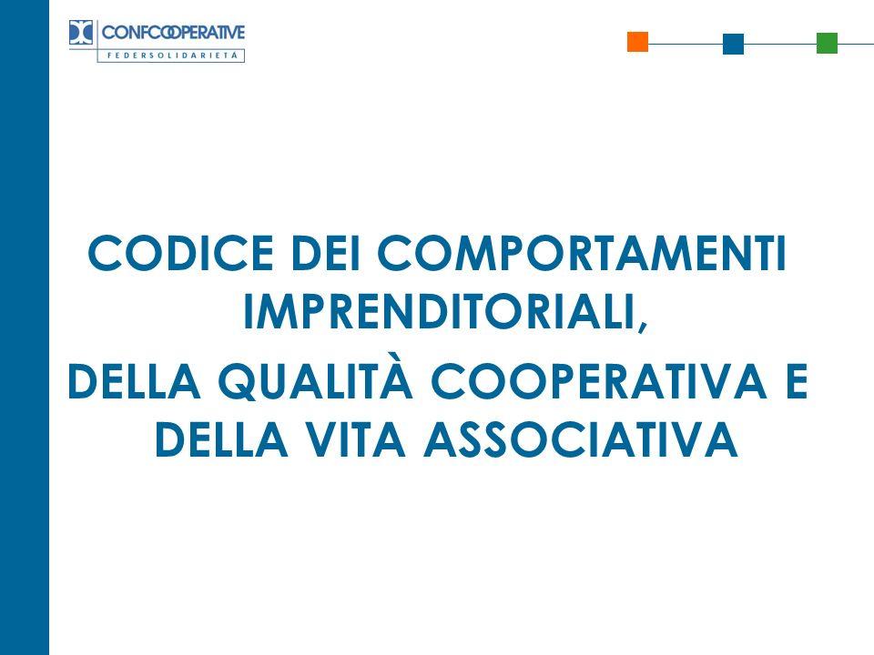 CODICE DEI COMPORTAMENTI IMPRENDITORIALI,