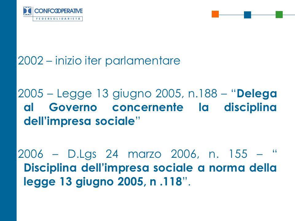 2002 – inizio iter parlamentare