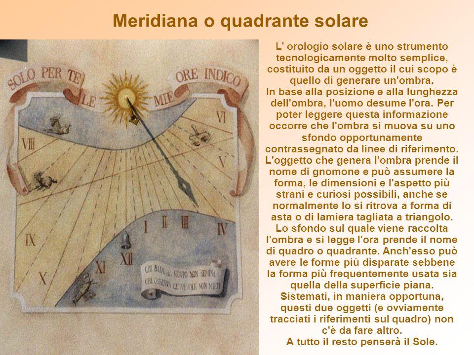 Meridiana o quadrante solare