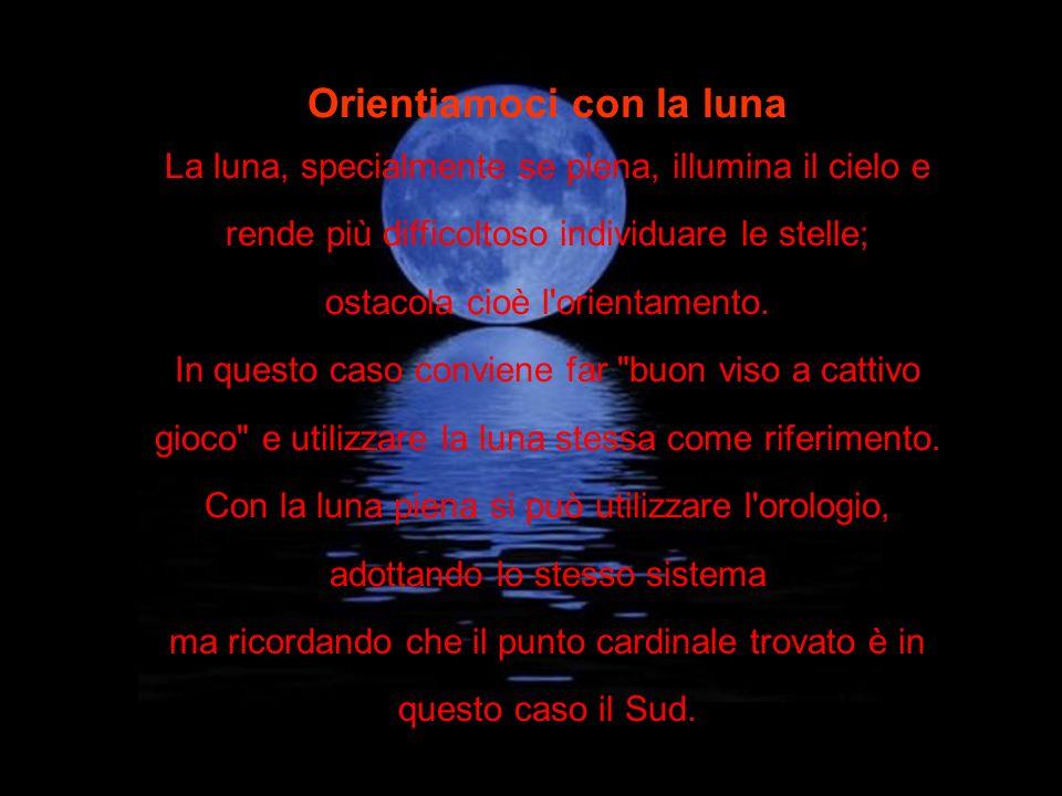 Orientiamoci con la luna