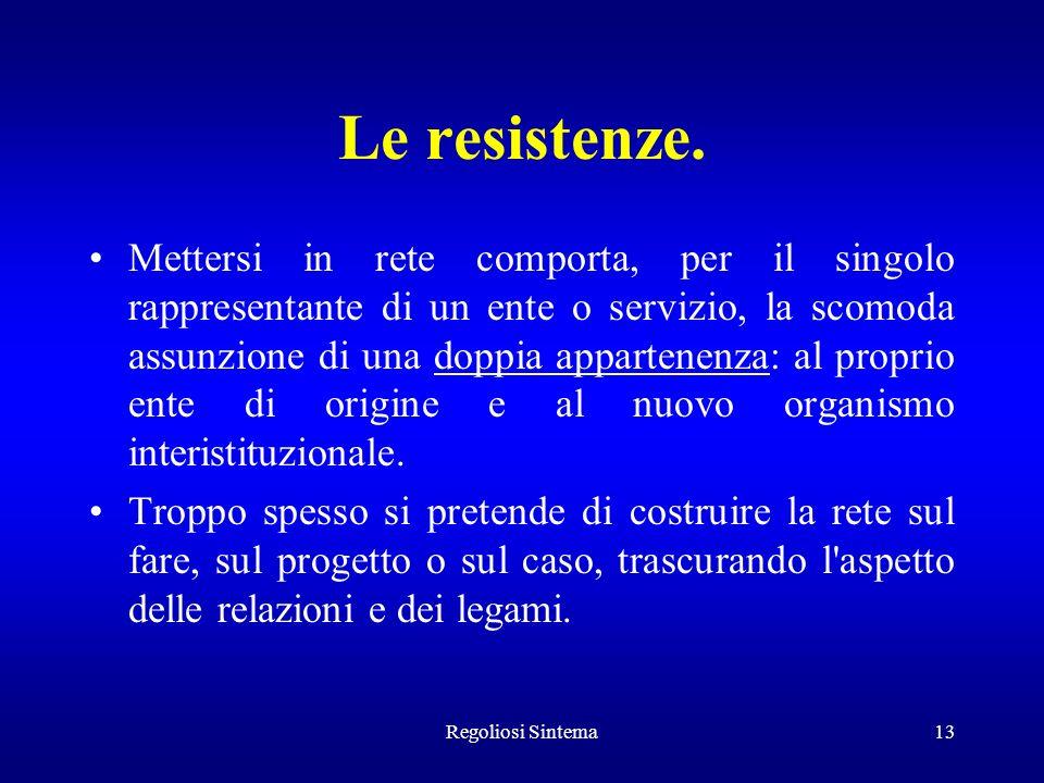 Le resistenze.