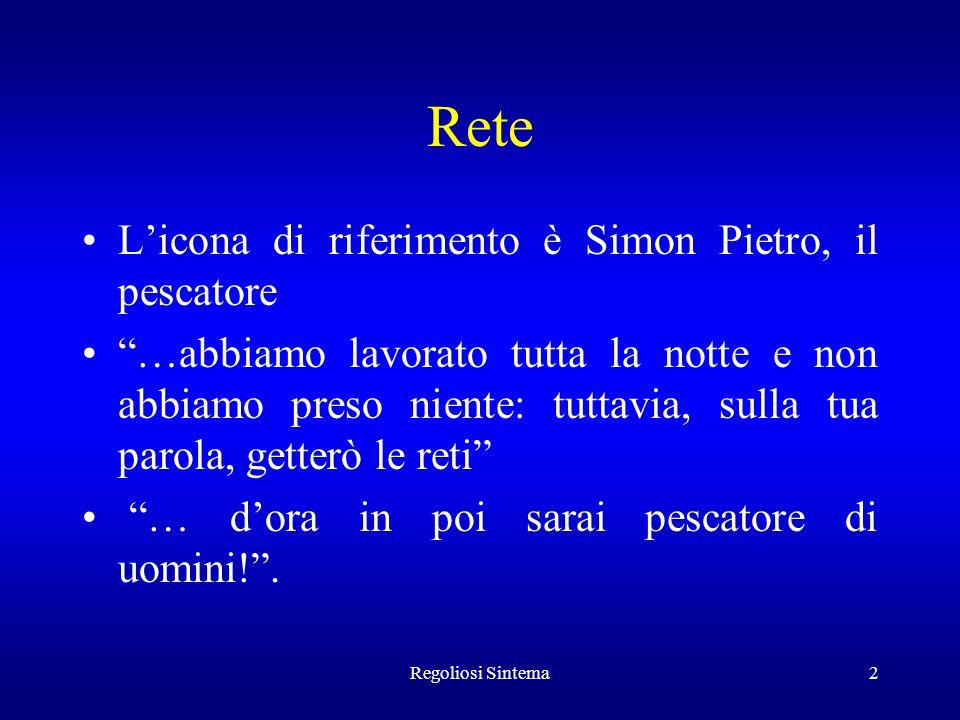 Rete L'icona di riferimento è Simon Pietro, il pescatore