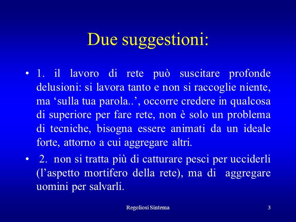 Due suggestioni: