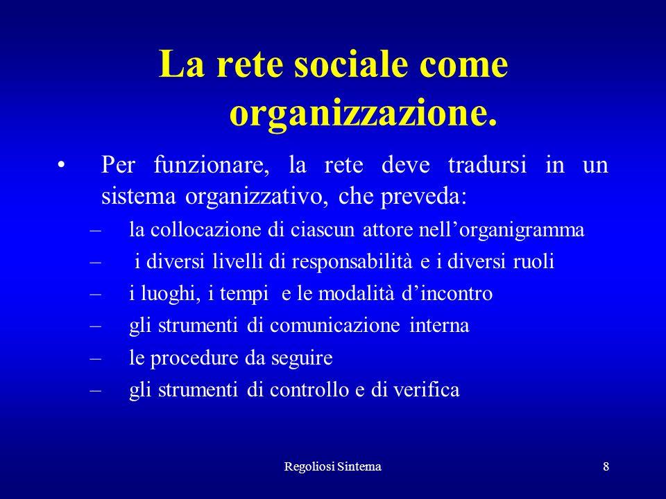 La rete sociale come organizzazione.