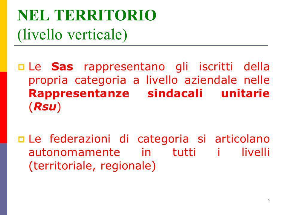 NEL TERRITORIO (livello verticale)