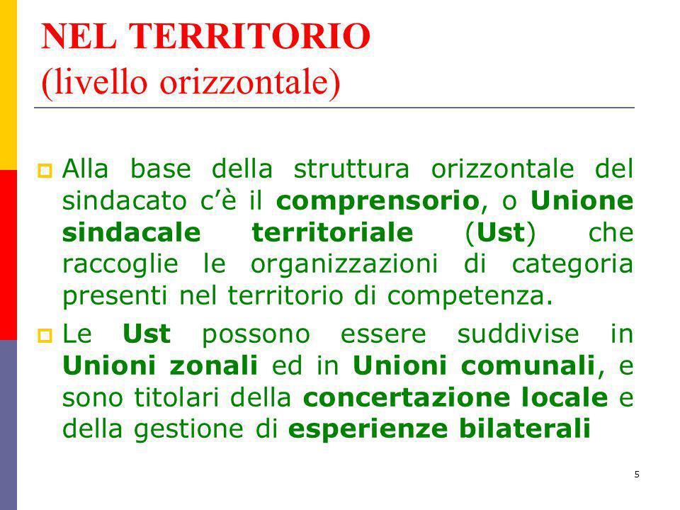 NEL TERRITORIO (livello orizzontale)