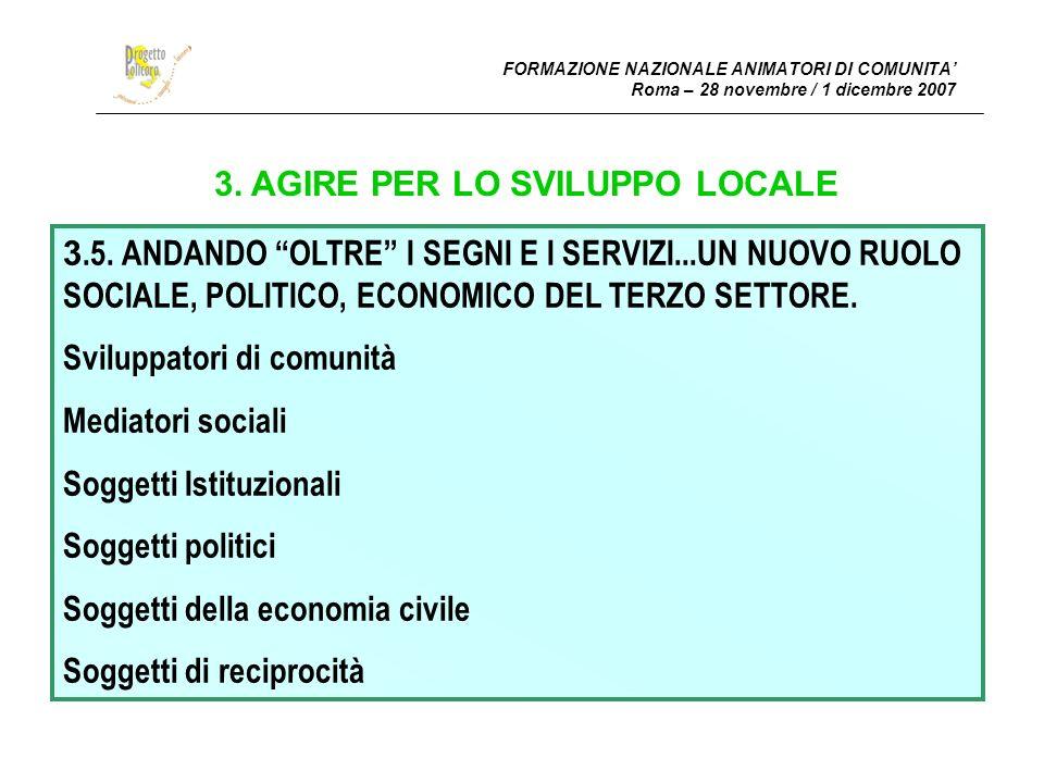 3. AGIRE PER LO SVILUPPO LOCALE