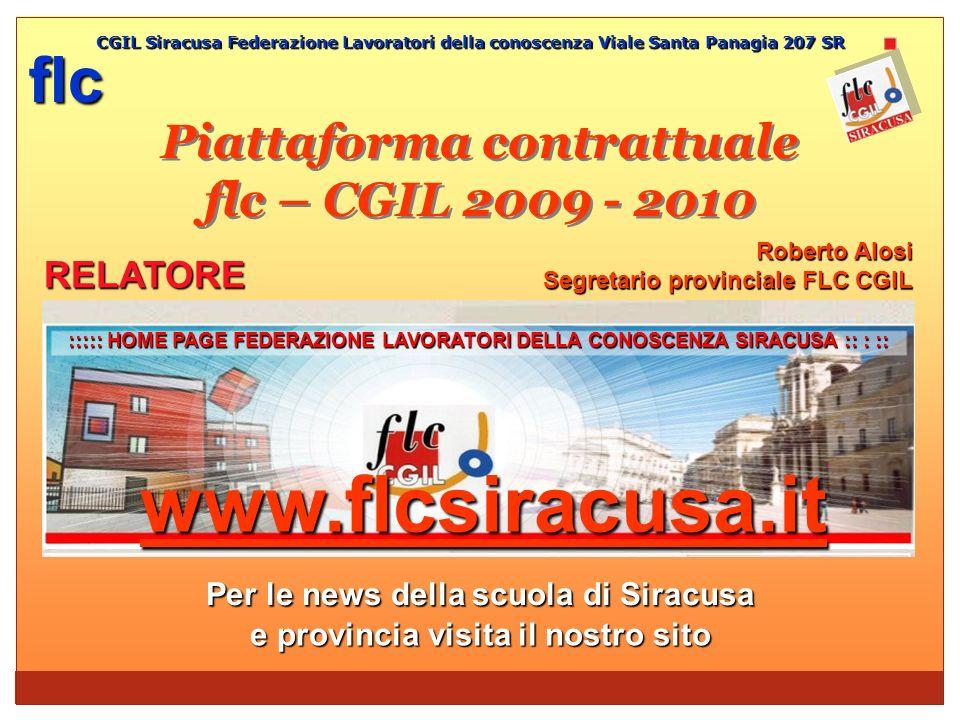 Piattaforma contrattuale flc – CGIL 2009 - 2010