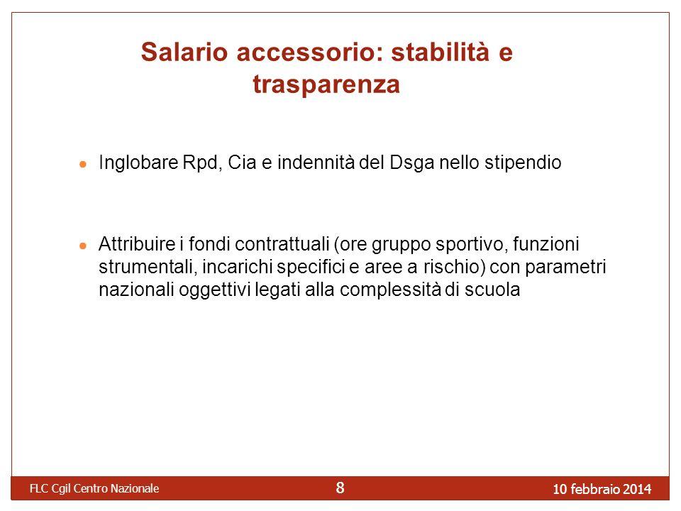 Salario accessorio: stabilità e trasparenza