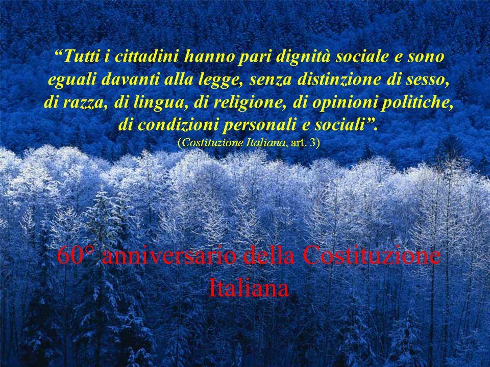 60° anniversario della Costituzione Italiana