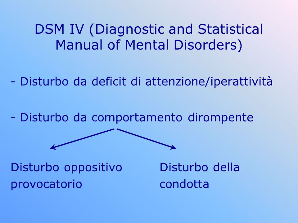 DSM IV (Diagnostic and Statistical Manual of Mental Disorders)