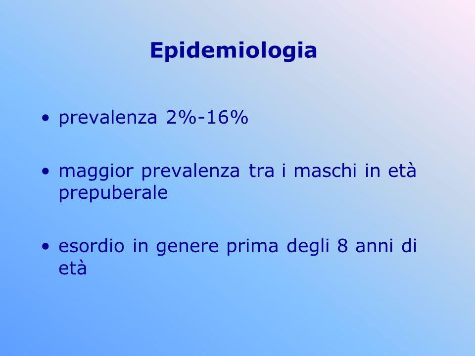 Epidemiologia prevalenza 2%-16%