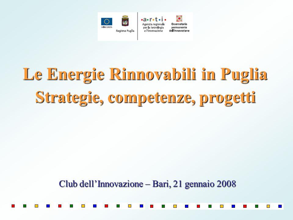 Le Energie Rinnovabili in Puglia Strategie, competenze, progetti