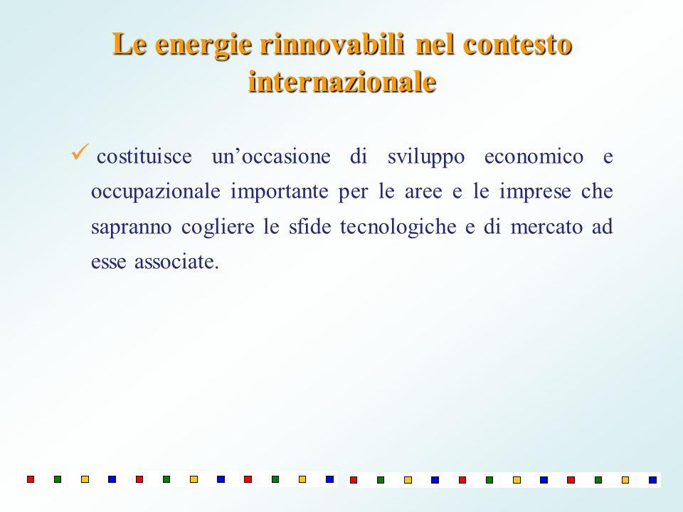 Le energie rinnovabili nel contesto internazionale