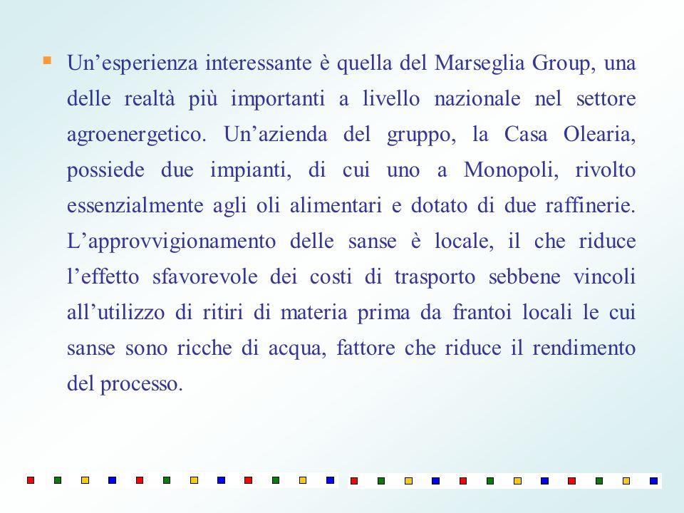 Un'esperienza interessante è quella del Marseglia Group, una delle realtà più importanti a livello nazionale nel settore agroenergetico.