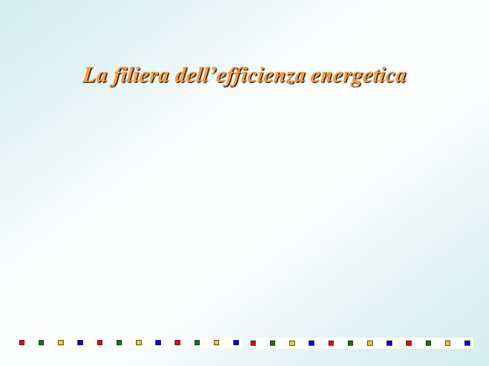 La filiera dell'efficienza energetica
