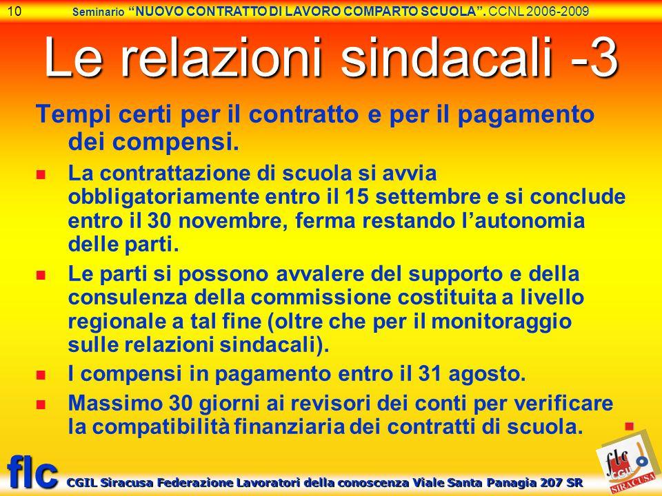 Le relazioni sindacali -3