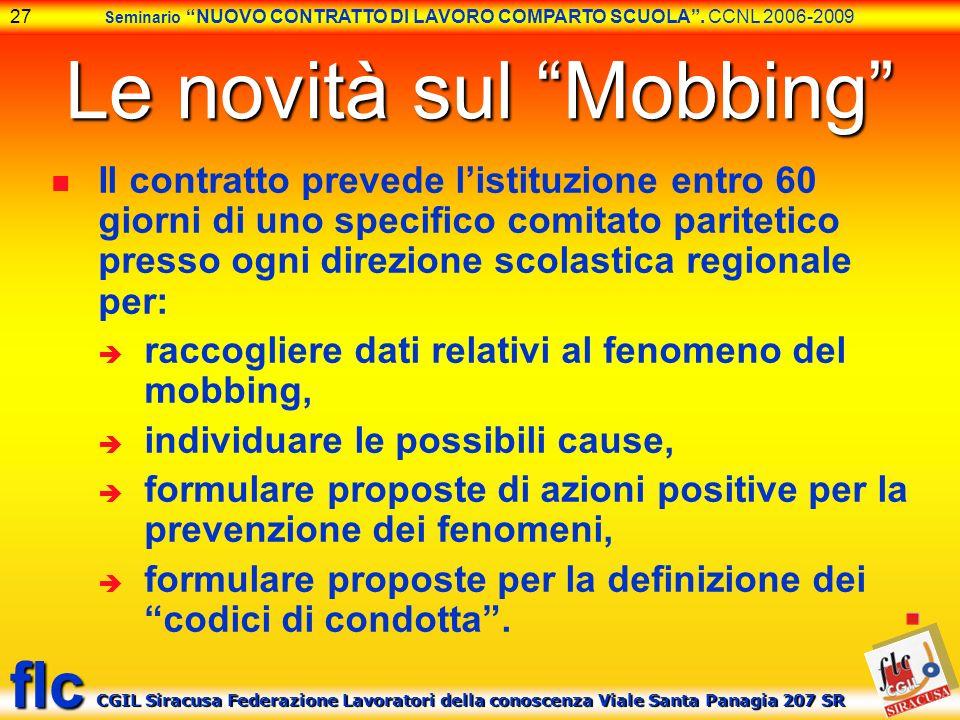 Le novità sul Mobbing