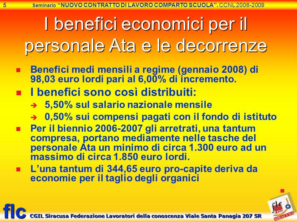 I benefici economici per il personale Ata e le decorrenze