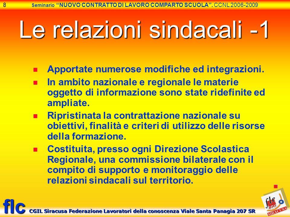Le relazioni sindacali -1