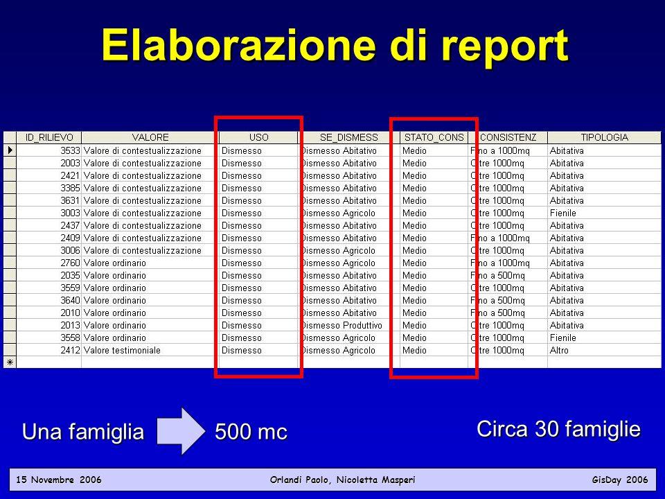 Elaborazione di report
