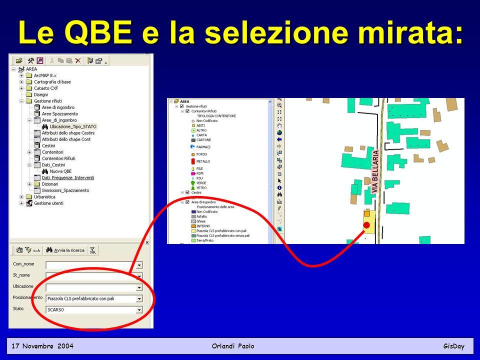 Le QBE e la selezione mirata: