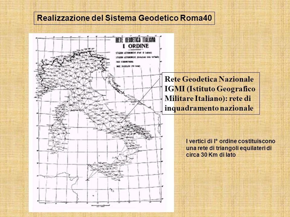 Realizzazione del Sistema Geodetico Roma40