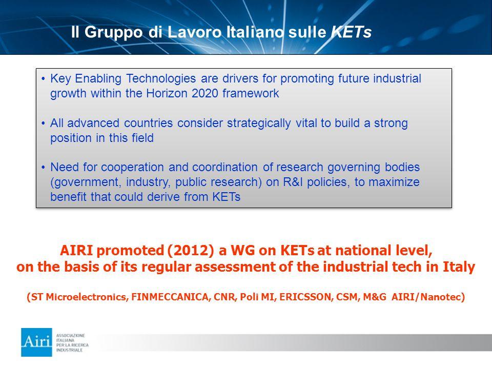Il Gruppo di Lavoro Italiano sulle KETs