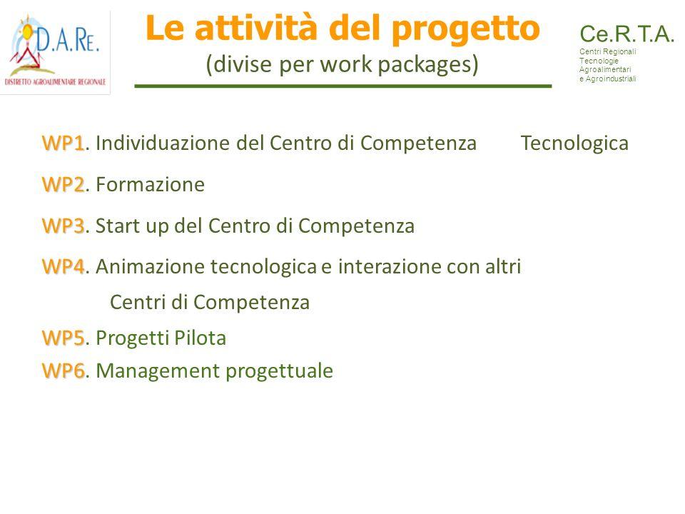 Le attività del progetto (divise per work packages)