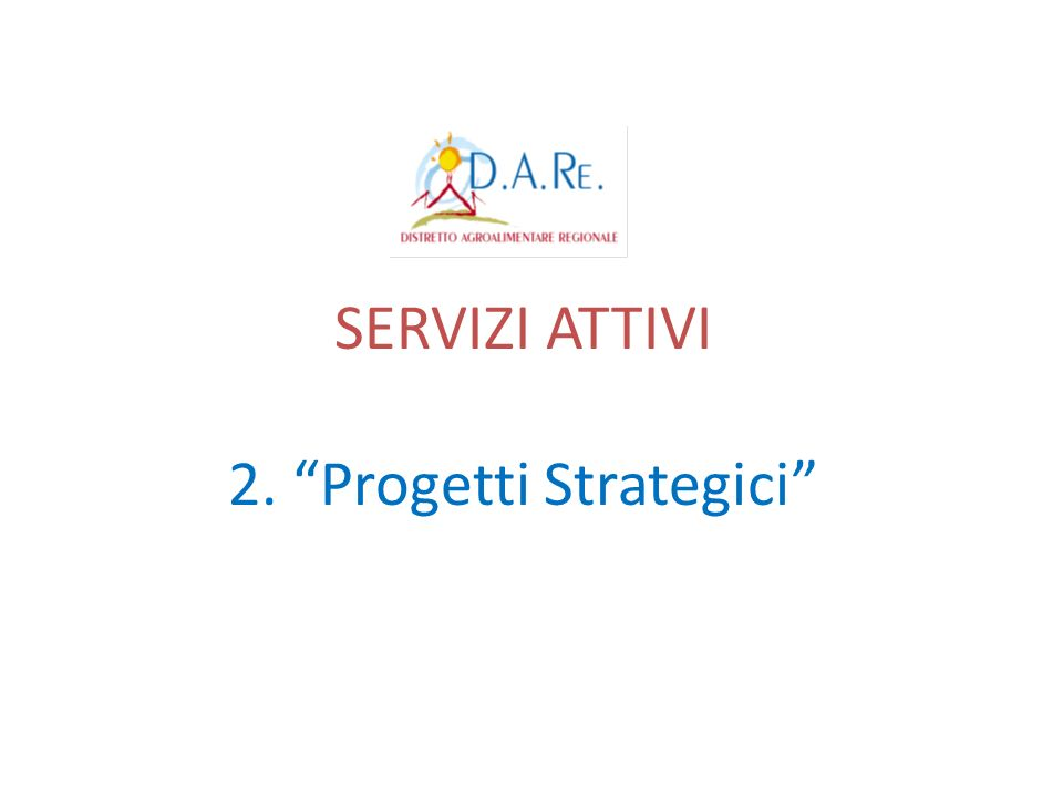 2. Progetti Strategici