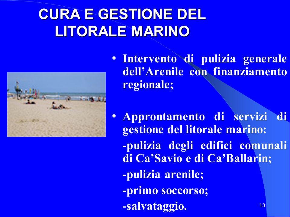 CURA E GESTIONE DEL LITORALE MARINO