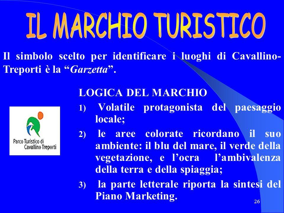 IL MARCHIO TURISTICO Il simbolo scelto per identificare i luoghi di Cavallino-Treporti è la Garzetta .