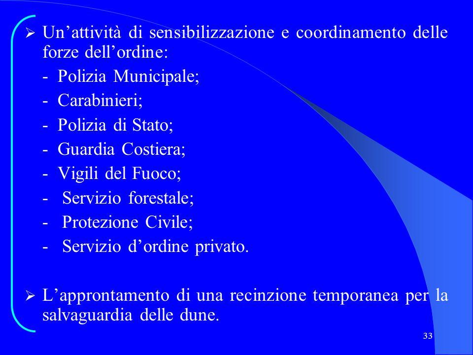 Un'attività di sensibilizzazione e coordinamento delle forze dell'ordine: