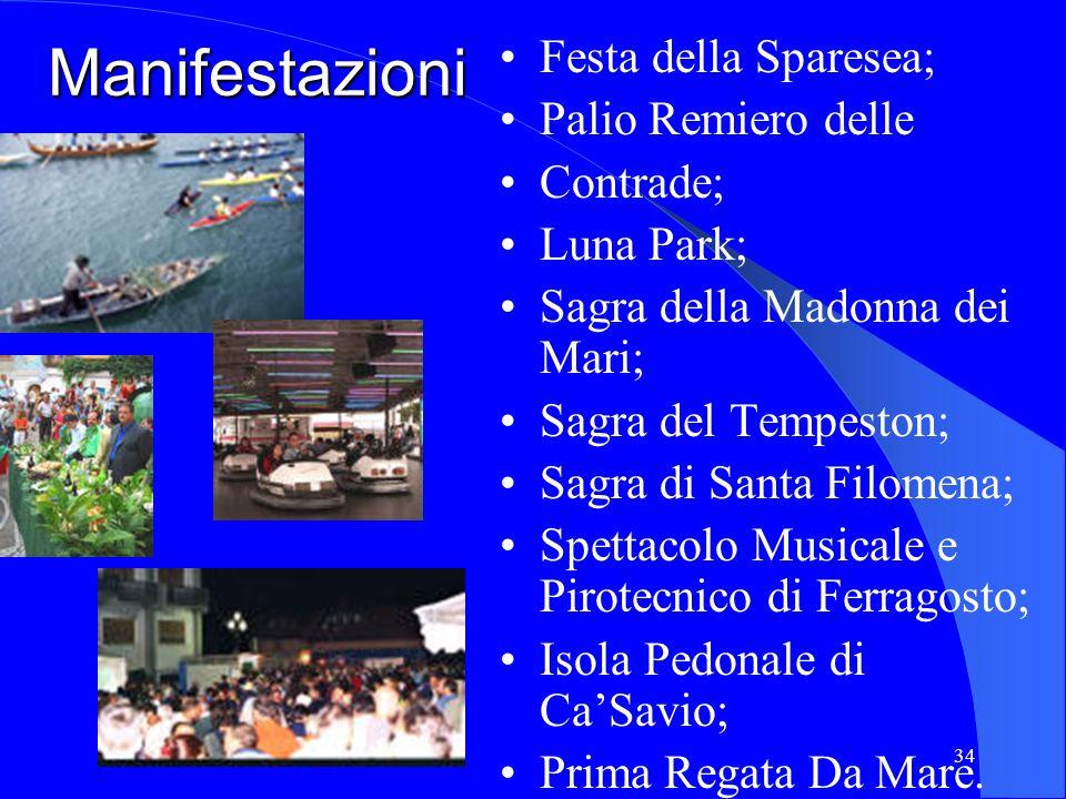 Manifestazioni Festa della Sparesea; Palio Remiero delle Contrade;