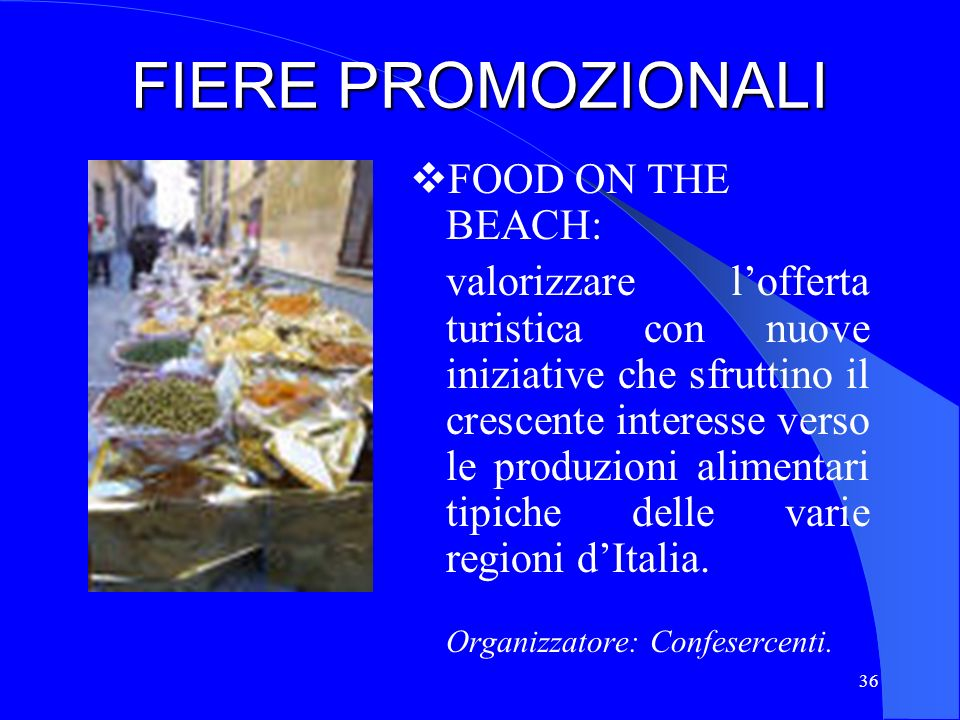 FIERE PROMOZIONALI FOOD ON THE BEACH: