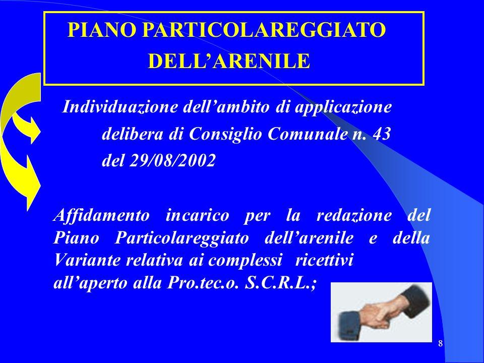 PIANO PARTICOLAREGGIATO Individuazione dell'ambito di applicazione