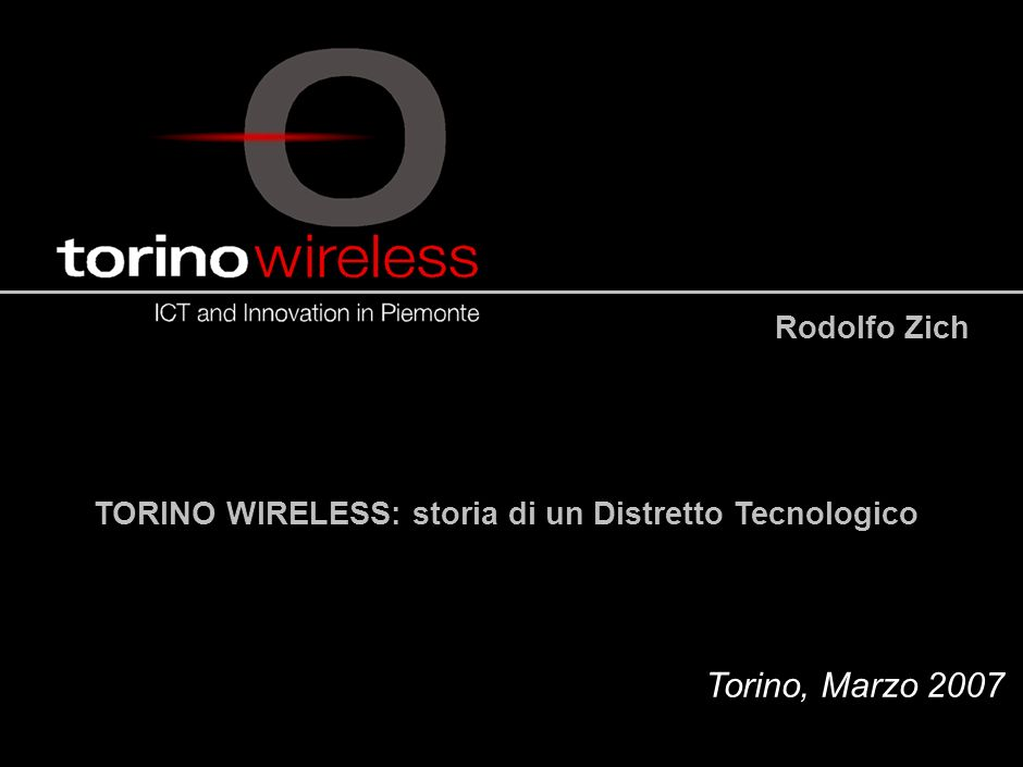 16.15.7/02 - 190402 - 35446/NG Rodolfo Zich Torino, Marzo 2007