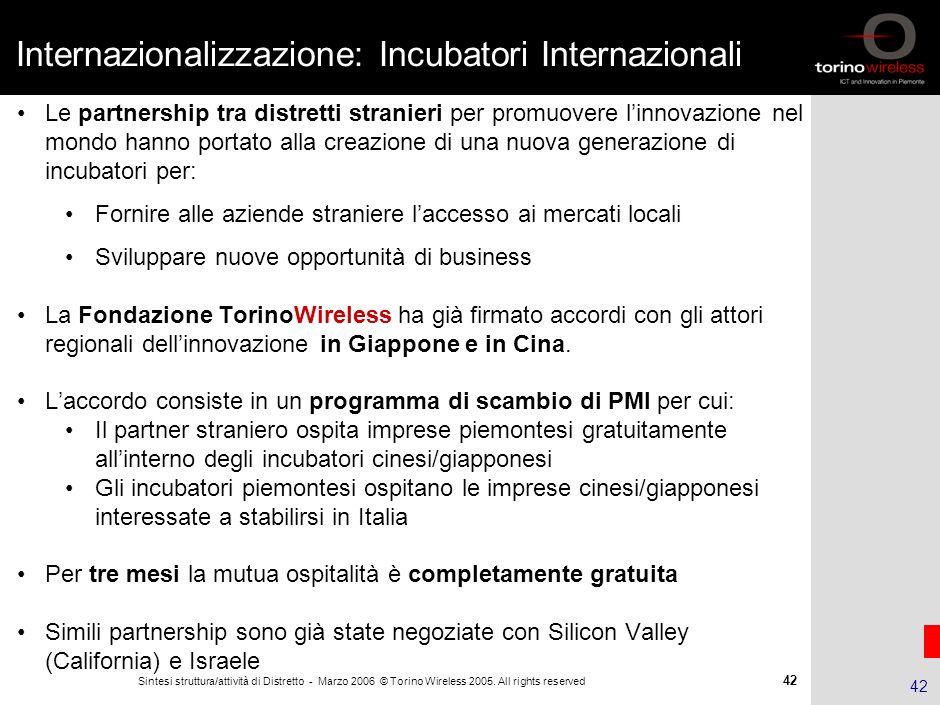Internazionalizzazione: Incubatori Internazionali