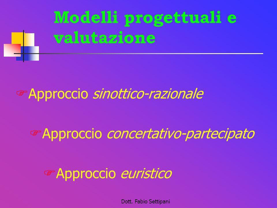 Modelli progettuali e valutazione