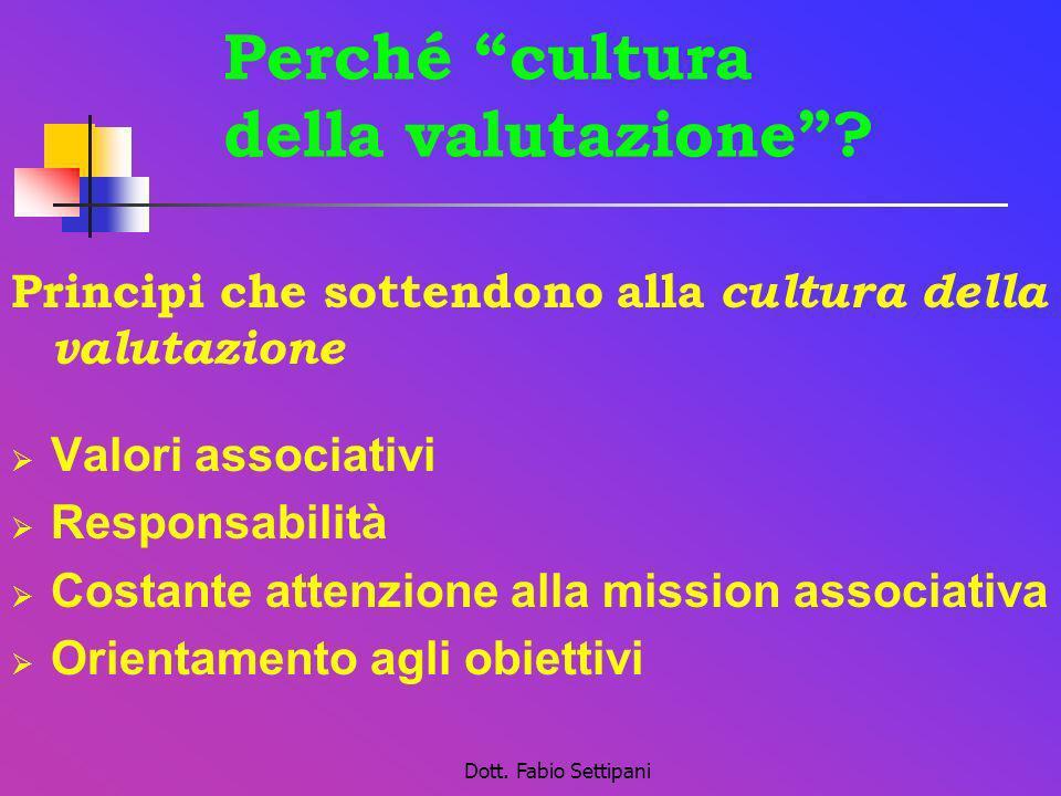 Perché cultura della valutazione