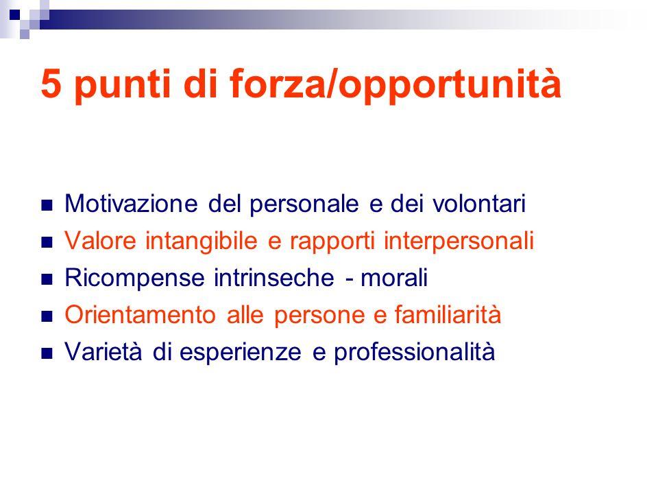 5 punti di forza/opportunità