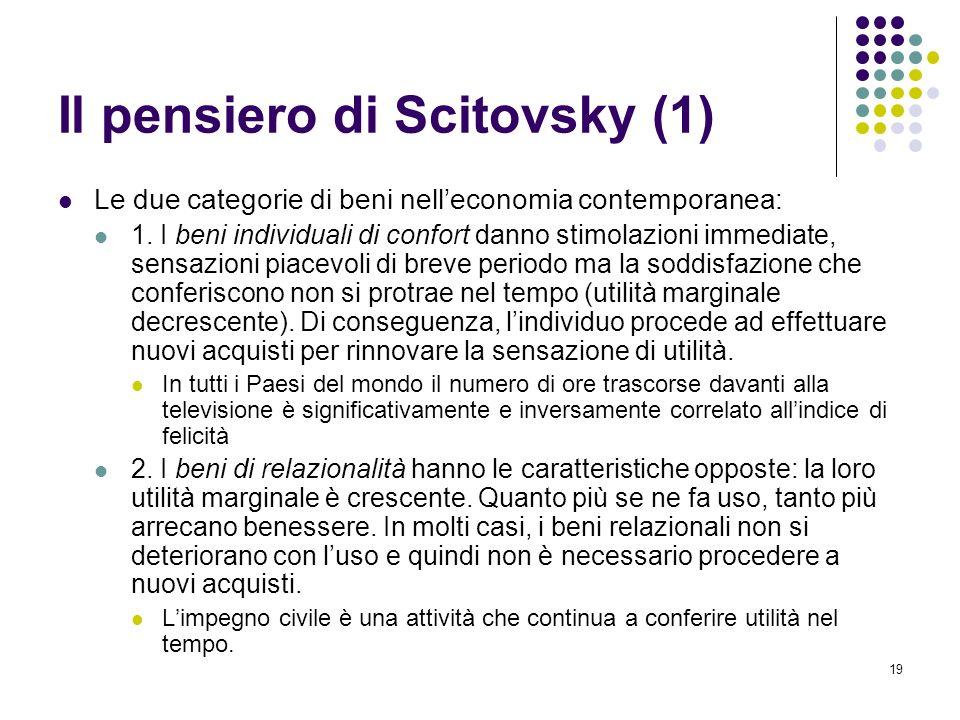 Il pensiero di Scitovsky (1)