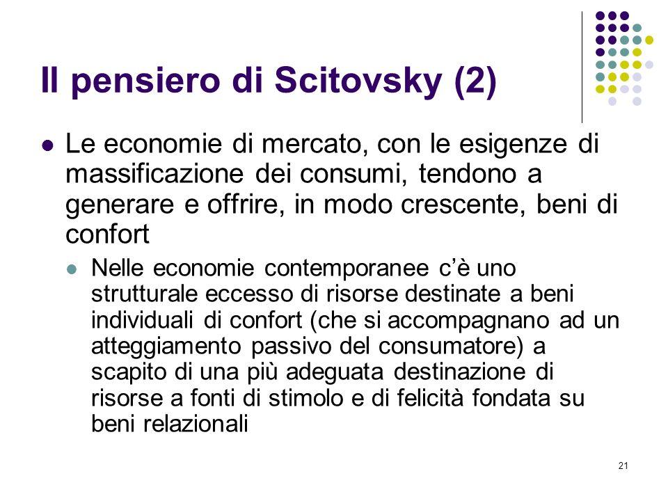 Il pensiero di Scitovsky (2)